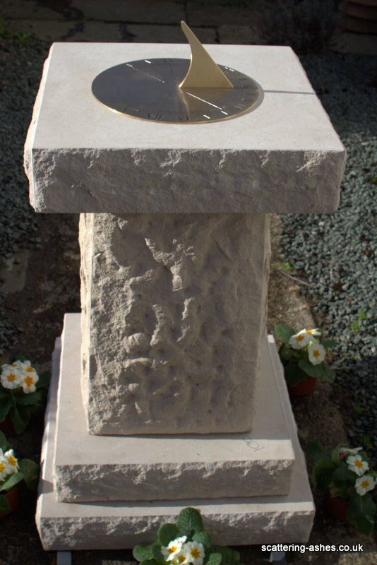 Hand-made Stone Memorial Sundial in Portland Stone