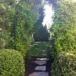 placing garden stone memorial