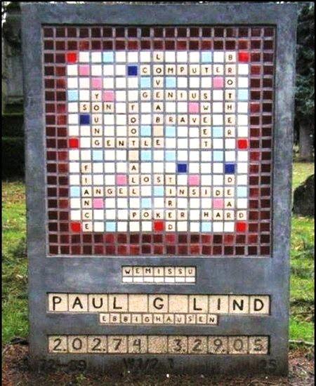 garden headstone scrabble memorial