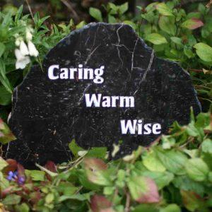 garden memorial stone
