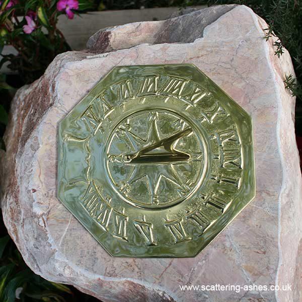 Devon Memorial Sundial: Carved Boulder