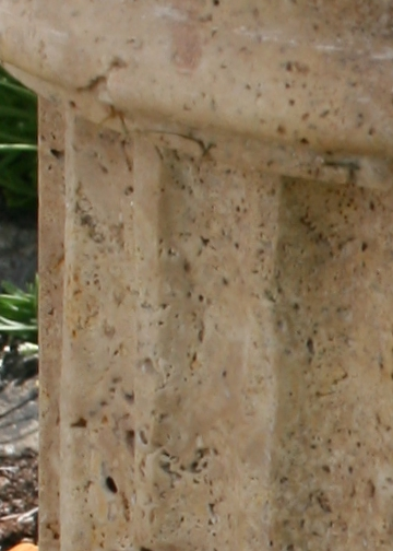 Travertine Fluted Column colour and texture